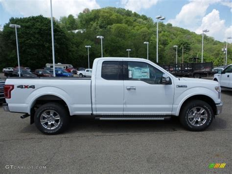 ford truck white 2015 oxford white ford f150 xlt supercab 4x4 103841519