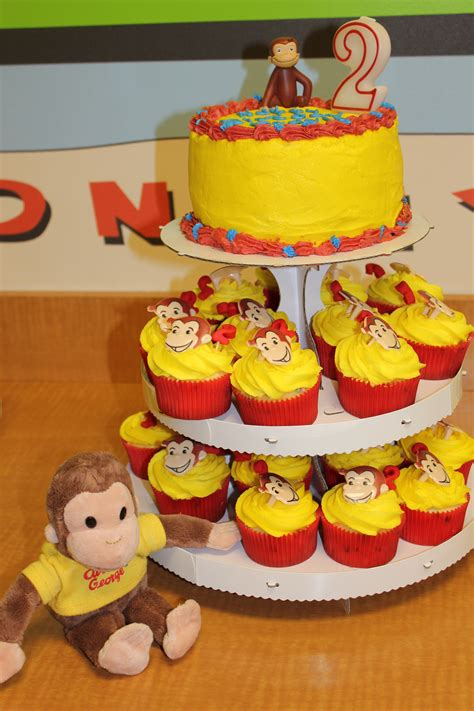 curious george cupcakes birthdays   curious
