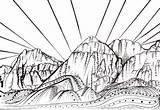 Coloring Rock Canyon Sunset Drawing Climber Climbing Vegas Las Designlooter Mountain 393px 94kb Nevada Tree Etsy sketch template