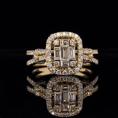 Background Diamond Ring Baguette Gold Yellow Portfolio