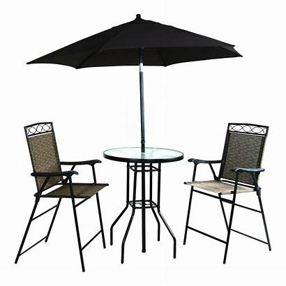 Umbrella Patio Table Bar Height Folding Included