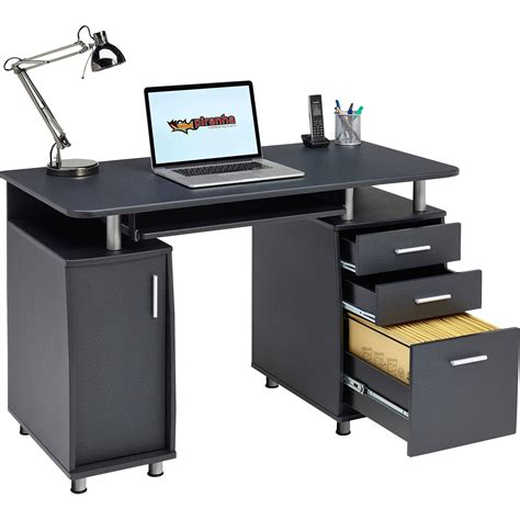 home office table desk computer desk with storage a4 filing drawer home office