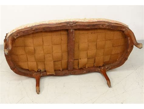 canapé banquette sofa bench carved walnut louis xv trash st tilliard
