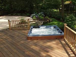 Hometalk Do you like Hot Tubs on a deck or built in?