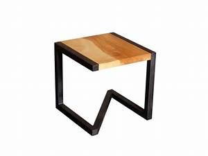 Tabouret Douche Bois : tabouret design en bois et acier vente de barnabe ~ Edinachiropracticcenter.com Idées de Décoration