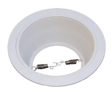 12 pack 6 inch white baffle recessed can light trim 6 inch white baffle recessed can light trim replaces halo