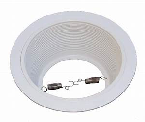 Recessed lighting trim sizes : Inch white baffle recessed can light trim replaces halo
