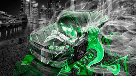 Green Anime Wallpaper - green anime wallpapers 45 wallpapers hd wallpapers