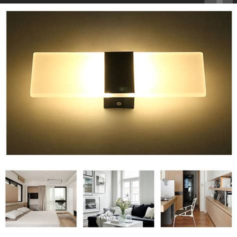 led wall light up down cube indoor outdoor home sconce