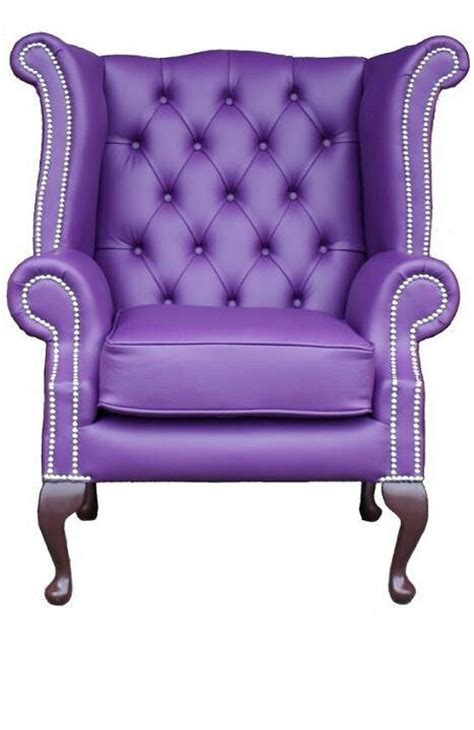 purple wing chair purple