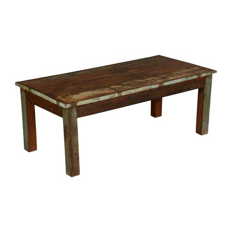 Farmhouse Distressed Reclaimed Wood Rustic Coffee Table