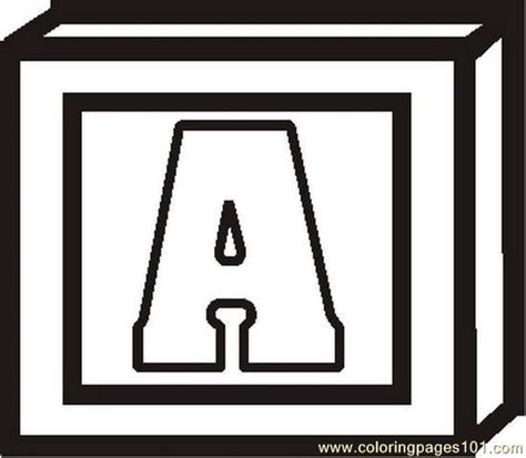 blockletterabw coloring page  alphabets coloring