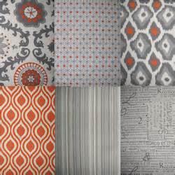 new rosa orange gray beige geometric 84 quot shower curtain