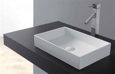 vasques vasque 224 poser vasque type corian 48 x 32 cm en r 233 sine solid surface square blanc