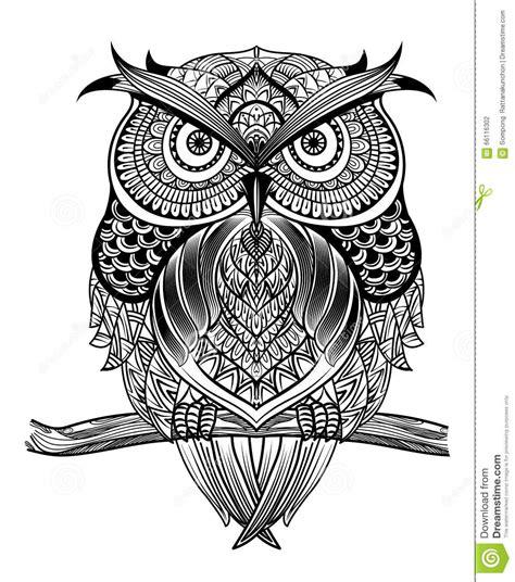 Kleurplaat Garuda by Kreskowa Sztuka Owl 01 Ilustracja Wektor Ilustracja