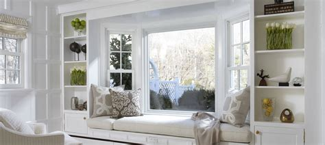 minimalist window seat  simple element  grand
