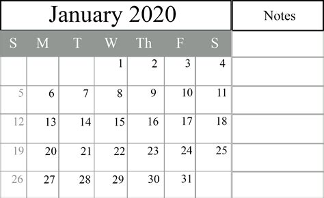 january calendar templates excel word