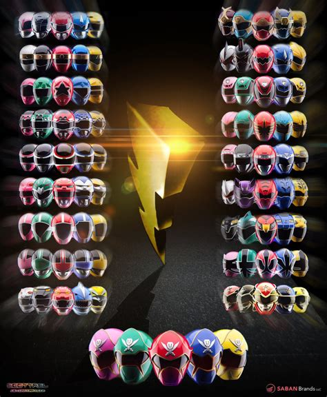 power rangers 20th anniversary poster by scottasl on