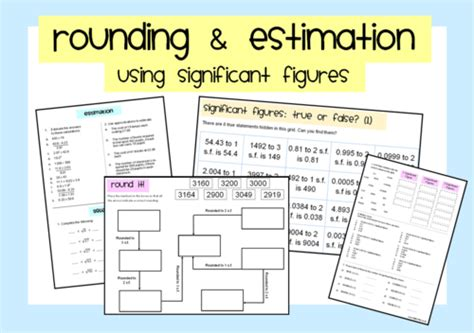 Estimating By Rounding To Significant Figures By Sbinning  Teaching Resources Tes