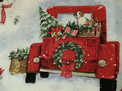 susan winget vtg red pickup truck   grandmas house