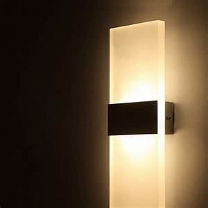 cheap ac100 265v modern 6w led wall lights room office With led wall sconce