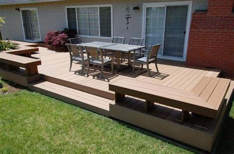 benches decks  corner bench  pinterest