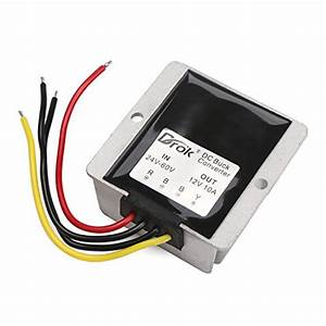 36v 48v To 12v Voltage Reducer  Drok 120w 10a Dc To Dc Waterproof Club Car Step Down Converter