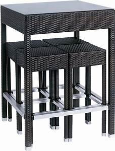 Table De Jardin Solde : ensemble bar de jardin en r sine tress e alto ~ Teatrodelosmanantiales.com Idées de Décoration