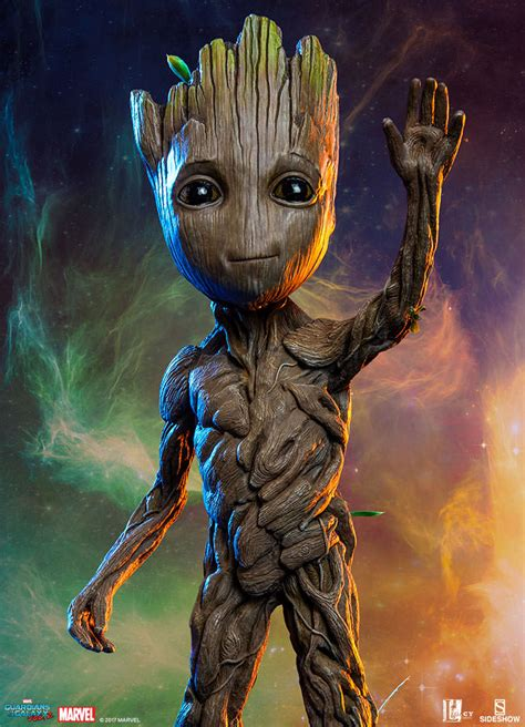 Marvel Baby Groot Maquette By Sideshow Collectibles