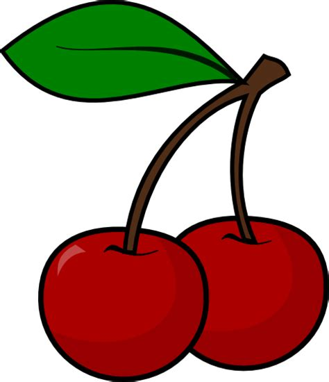 Cherry Clipart Black And White  Clipart Panda Free