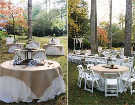 wedding table decorations for outside rustic vintage backyard wedding of emily hearn rustic wedding chic