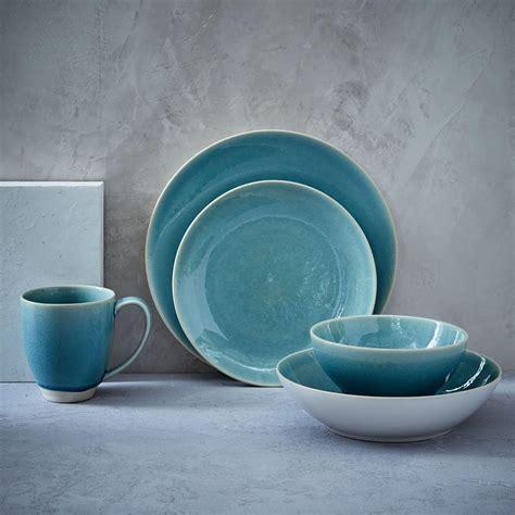 crackle glaze turquoise dinnerware alta stoneware sets cambria australia piece dinner west elm glenna tableware light dining plate kitchen westelm