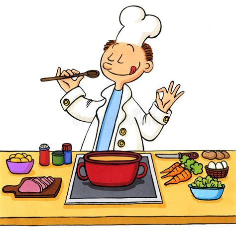 dessin animé cuisine dessin animé d 39 un cuisinier dans la cuisine illustration
