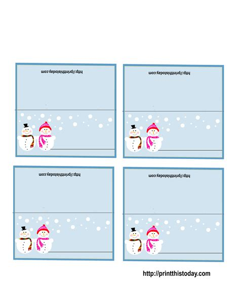 free printable christmas table place cards template free printable christmas place cards