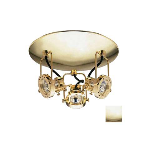 flush mount track lighting shop plc lighting 3 light 11 in polished brass dimmable