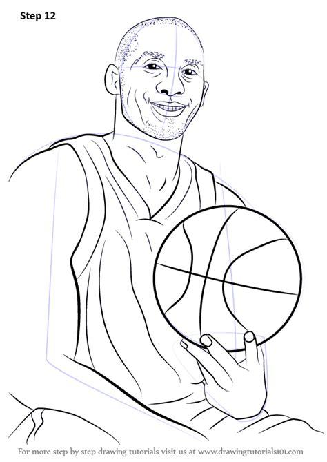 learn   draw kobe bryant basketball players step  step drawing tutorials