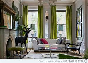 15 Contemporary Grey and Green Living Room Designs - House