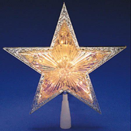 lighted tree topper 10 quot lighted silver tree topper clear
