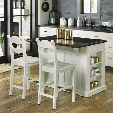 Kitchen Island With Wheels And Stools by Home Styles Granite Top Kitchen Island With 2