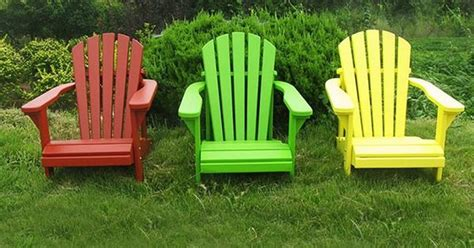 adirondack chairs color plans outdoor ideas