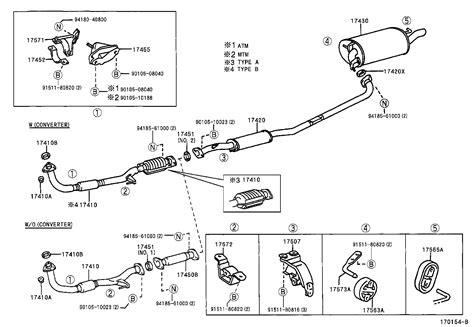 Toyota Camry Exhaust Parts Diagram Auto
