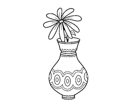 dibujo de una flor en un jarr 243 n para colorear dibujos net