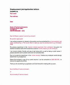 46 application letter examples samples pdf doc With application letter for recruitment