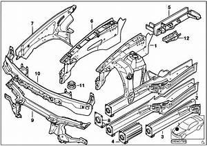 Original Parts For E53 X5 3 0d M57 Sav    Bodywork   Wheelhouse Engine Support