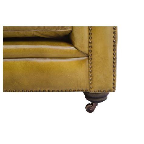 canapé 240 cm canapé chesterfield en cuir vintage capitonné couleur