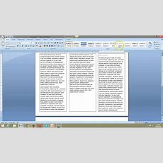 Create A Simple 3 Fold Leaflet In Word Youtube