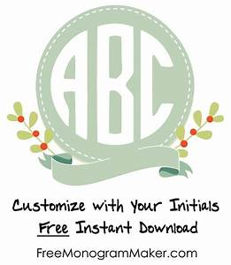 free monogram maker customize online instant download With initial generator