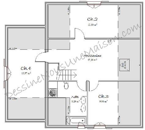plan maison 4 chambres etage plans de maisons individuelles avec 4 chambres