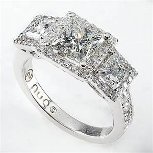 Wedding rings 3 stone platinum ring settings three stone for Diamond wedding ring settings