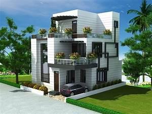 Beautiful, Blue, Roof, Villa, Elevation, In, 2500, Sq, Feet
